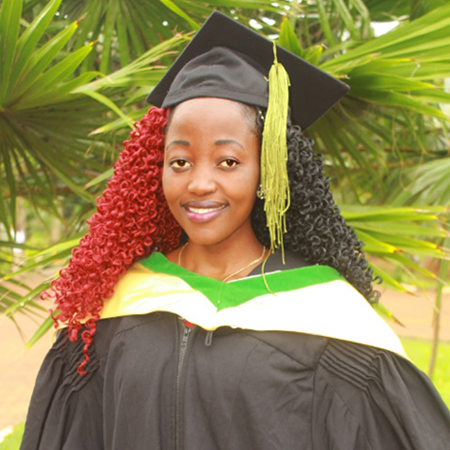 Getrude in 2019 graduating from university